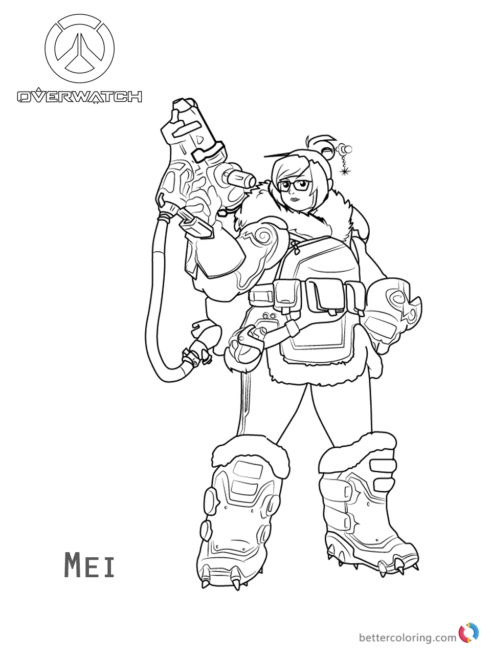 960x1280 Mei From Overwatch Coloring Pages