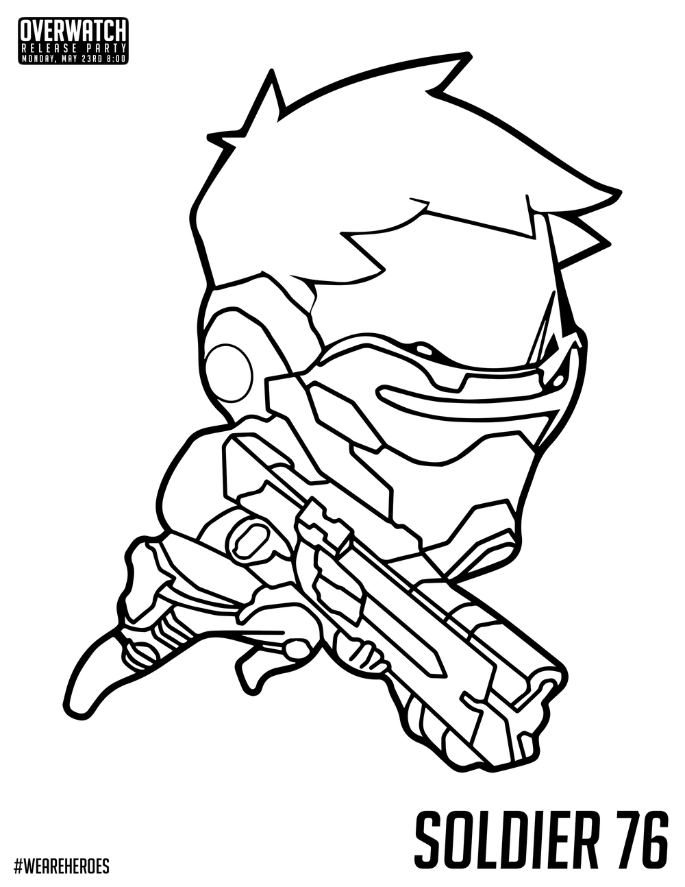 1000x1294 Overwatch Chibi Soldier Coloring Pages