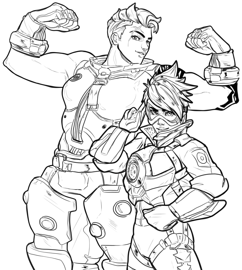 920x1027 Overwatch Coloring Pages