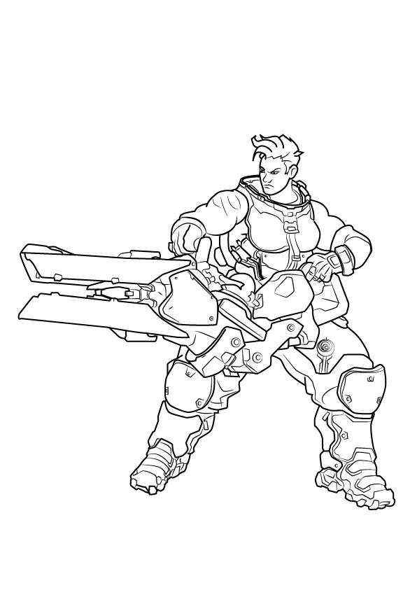 596x843 Overwatch Coloring Pages Genji