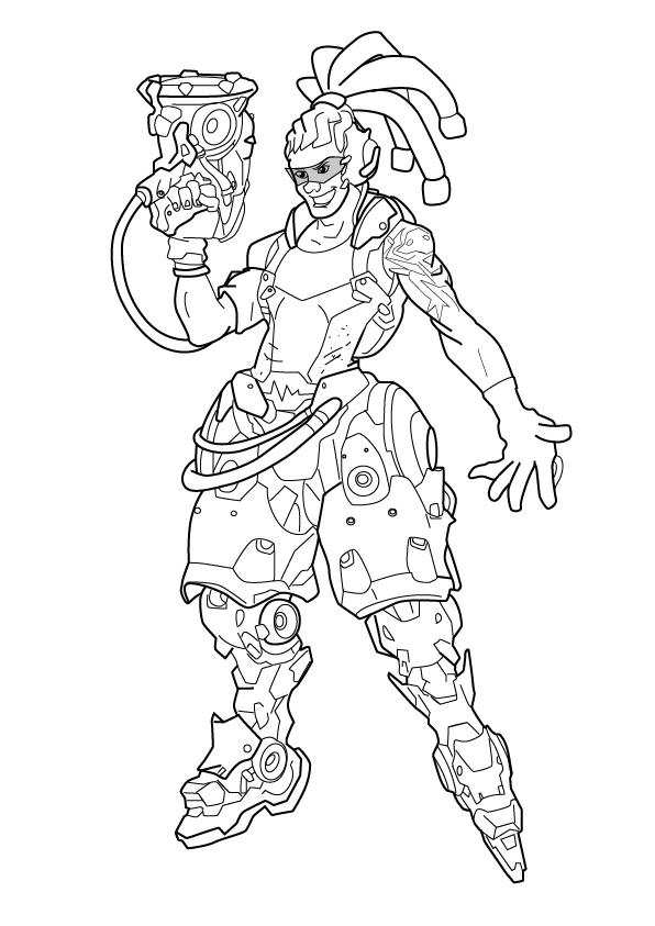 596x843 Overwatch Heroes Coloring Page Lucio