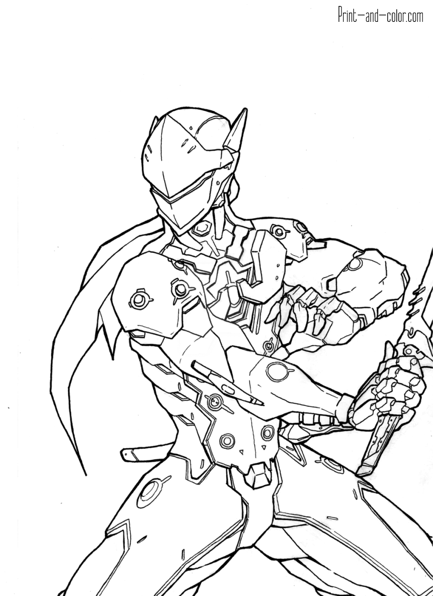 871x1200 Overwatch Coloring Pages Print And Over Watch