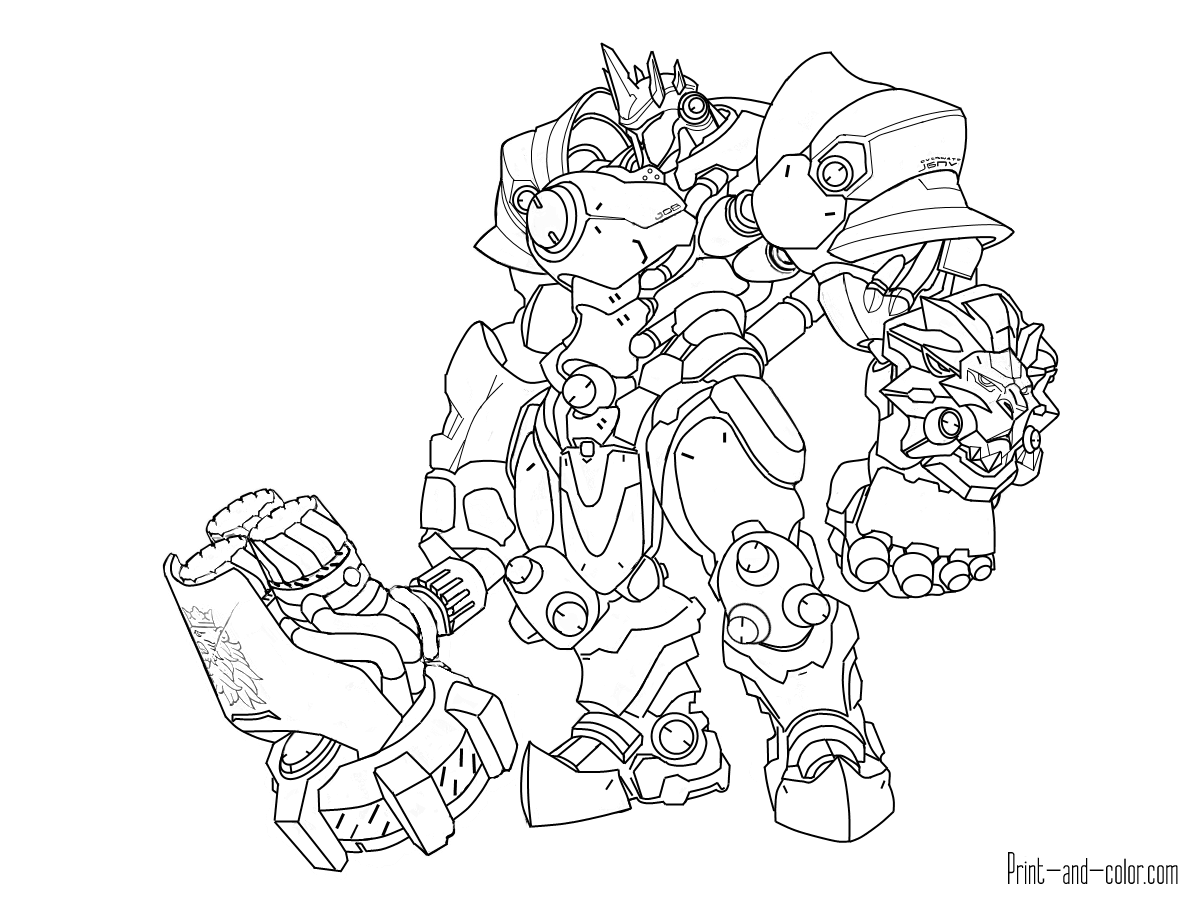 1200x900 Overwatch Coloring Pages Print