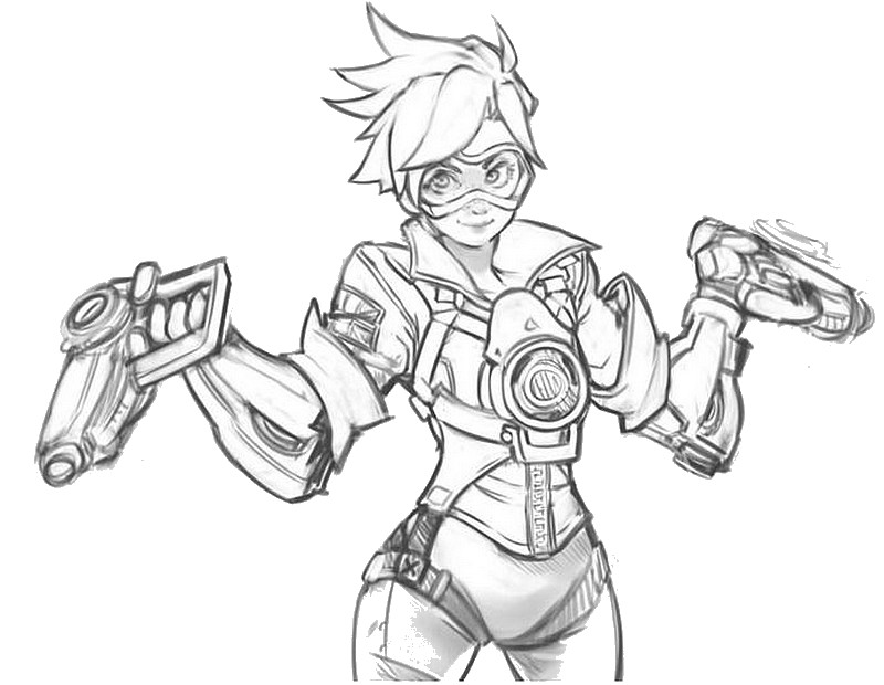 800x620 Coloring Pages Overwatch