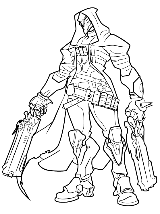 557x748 Reaper From Overwatch Colouring Pages