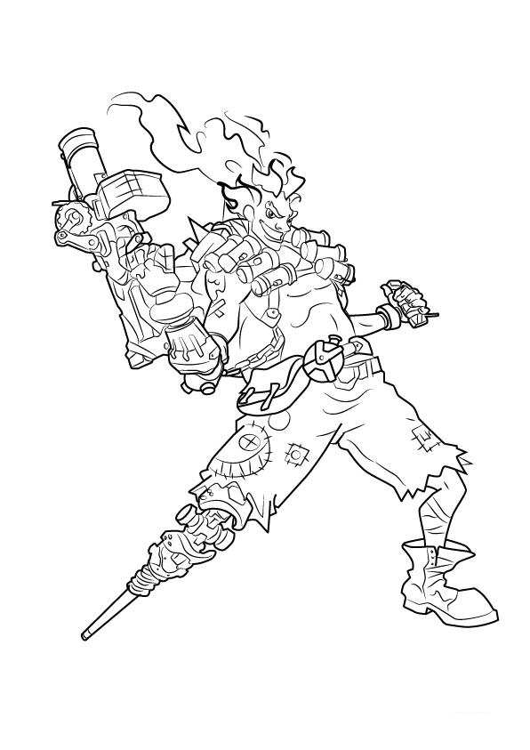 596x843 Kids N Coloring Pages Of Overwatch