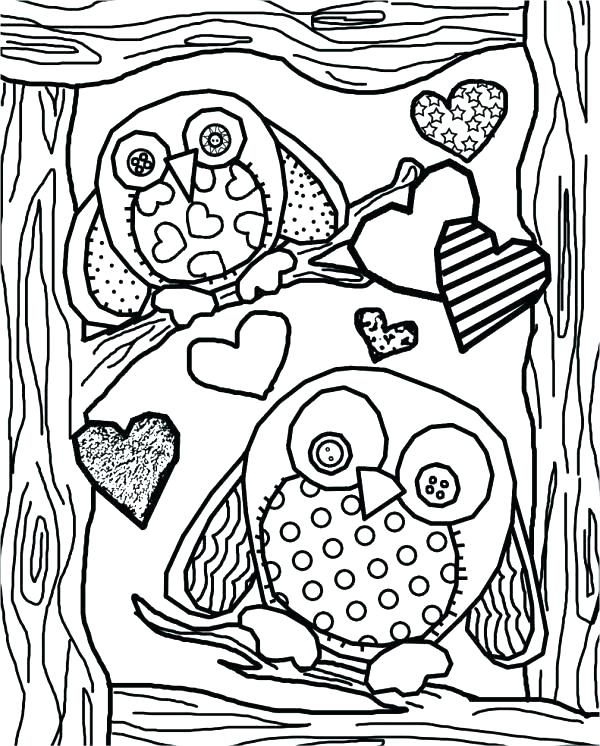 600x746 Cute Coloring Pages Of Owls Cartoon Owl Print Free Printable Page