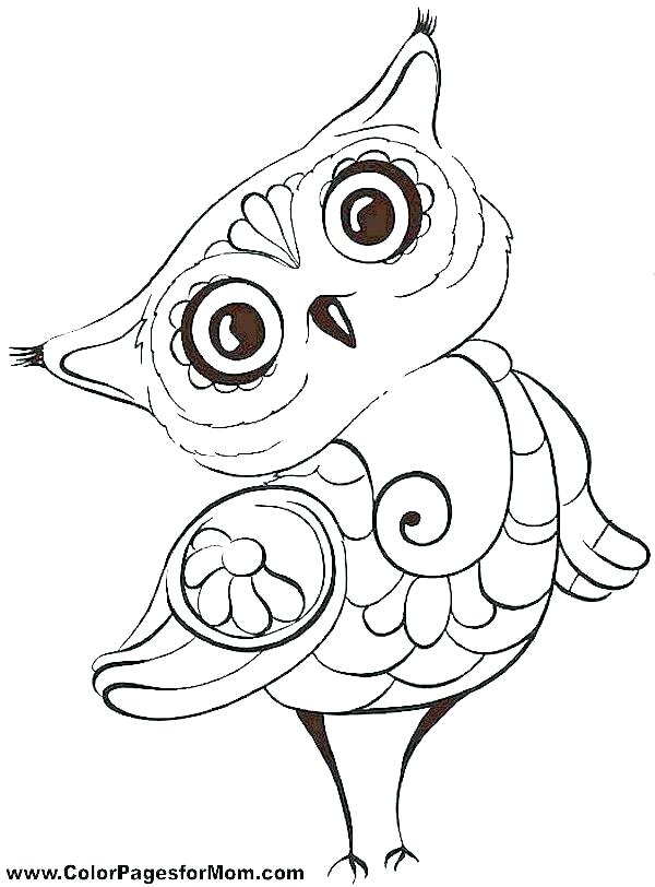 600x812 Free Cartoon Owl Coloring Pages To Print Printable For Kids Page