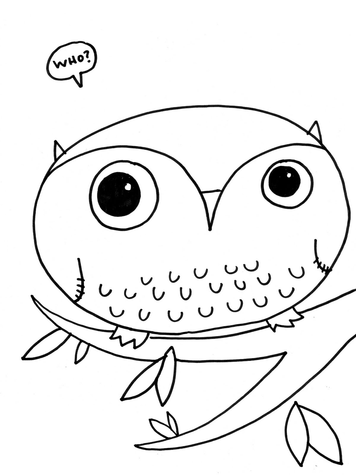 1200x1600 Free Printable Owl Coloring Pages For Kids