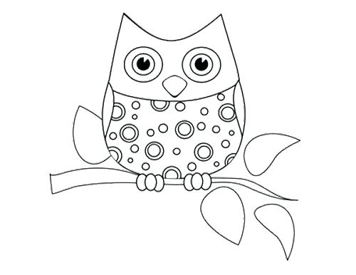 500x386 Owl Coloring Pages Mama Baby Owl Coloring Page Owl