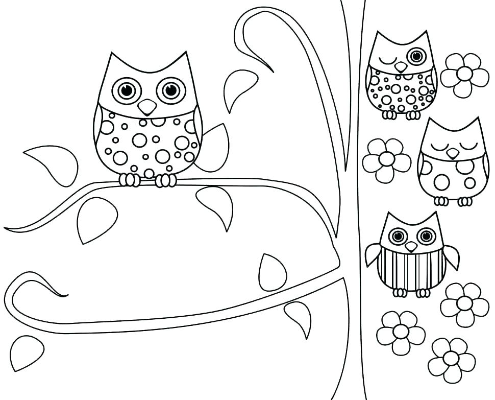 970x783 Owl Coloring Pages To Print Coloring Pages Owls Colouring Pages