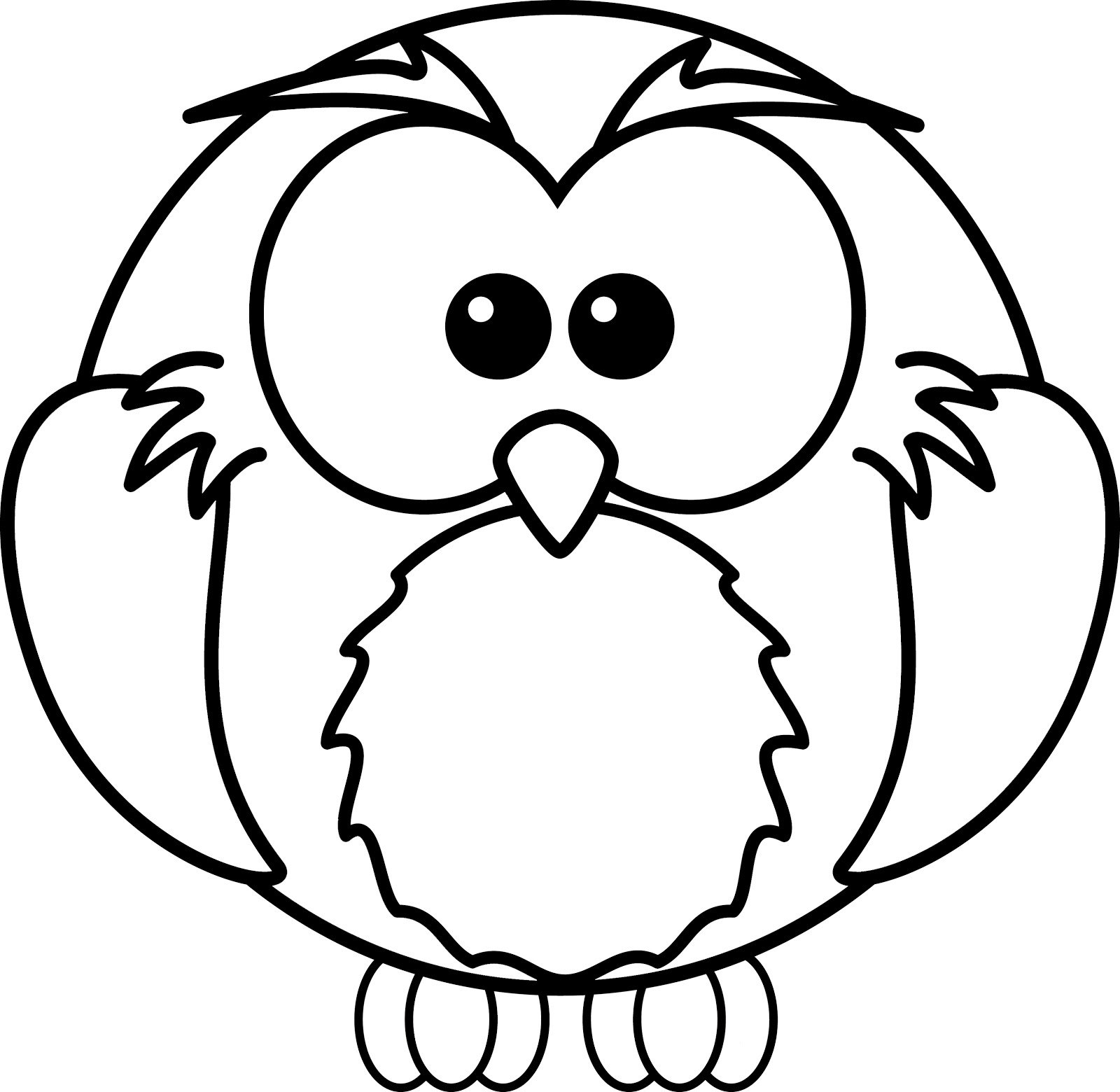 1600x1560 Cartoon Owl Coloring Pages