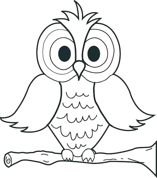 617x700 With Owl Coloring Pages Print Free Printable Cute Owl Coloring