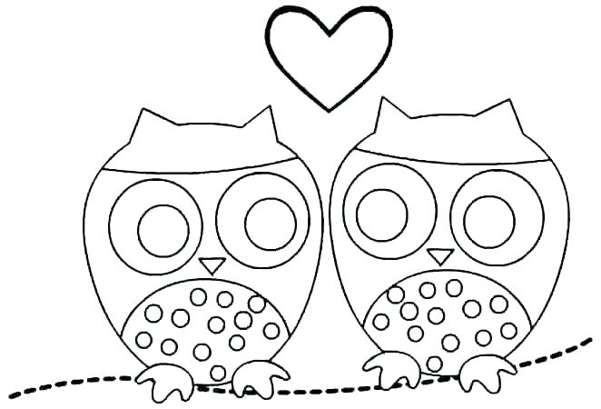 662x450 Coloring Pages Owls
