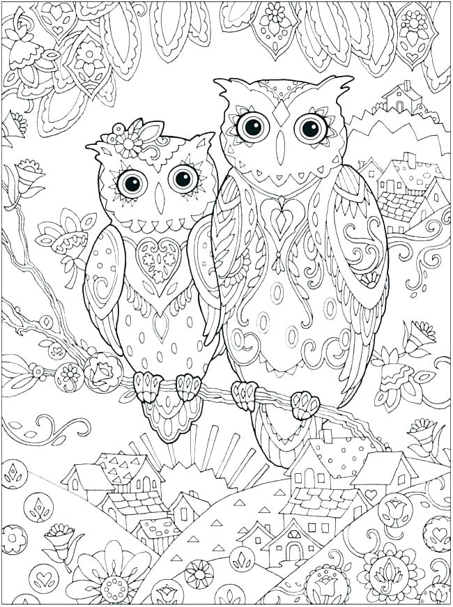 Owl Coloring Pages Colored at GetDrawings.com | Free for ...