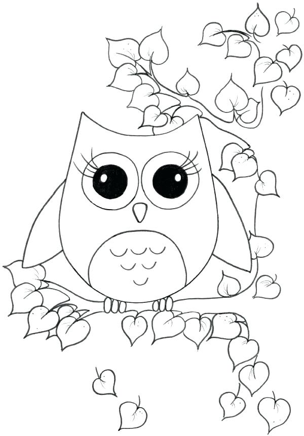 600x861 Owl Color Pages Owl Coloring Pages For Kids More Free Printable
