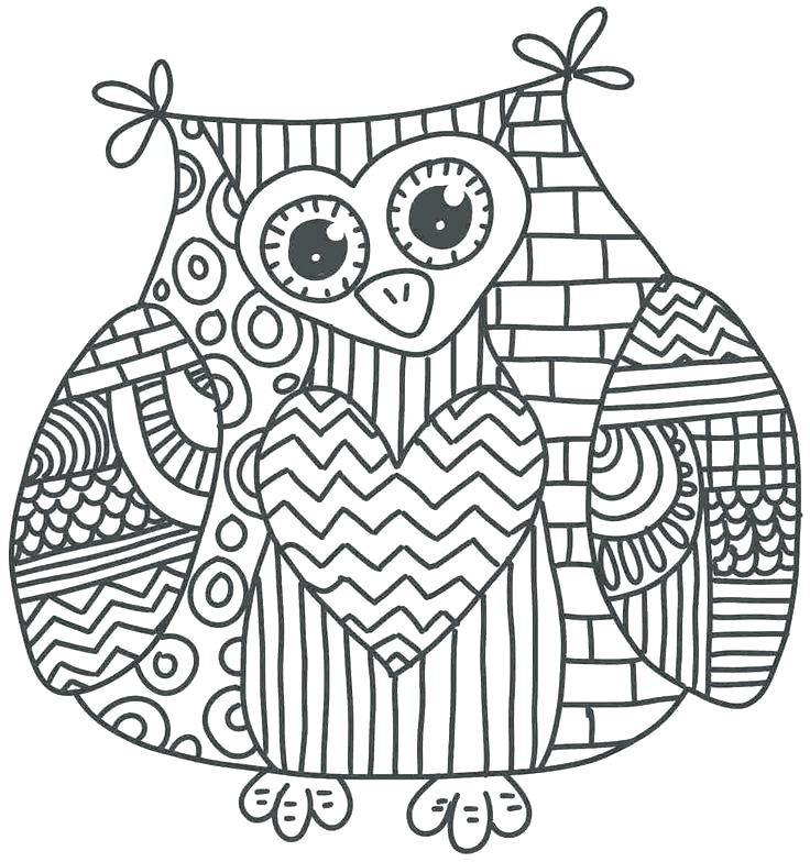 736x784 Owl Color Pages Printable Owl Coloring Pages Adults Color Pages