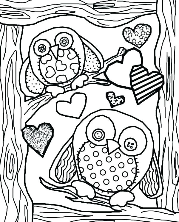 600x746 Owl Coloring Page Owl Pictures To Color Cute Owl Coloring Pages