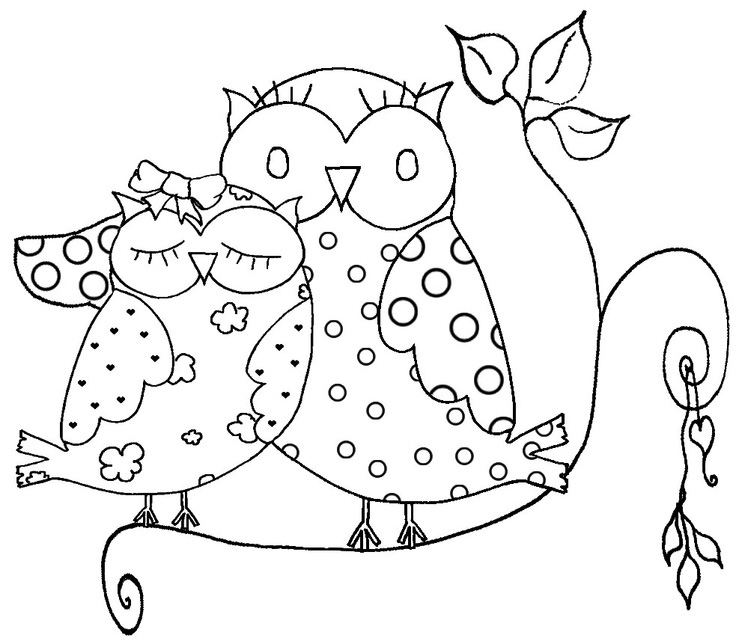 736x641 Difficult Owl Coloring Page For Adults