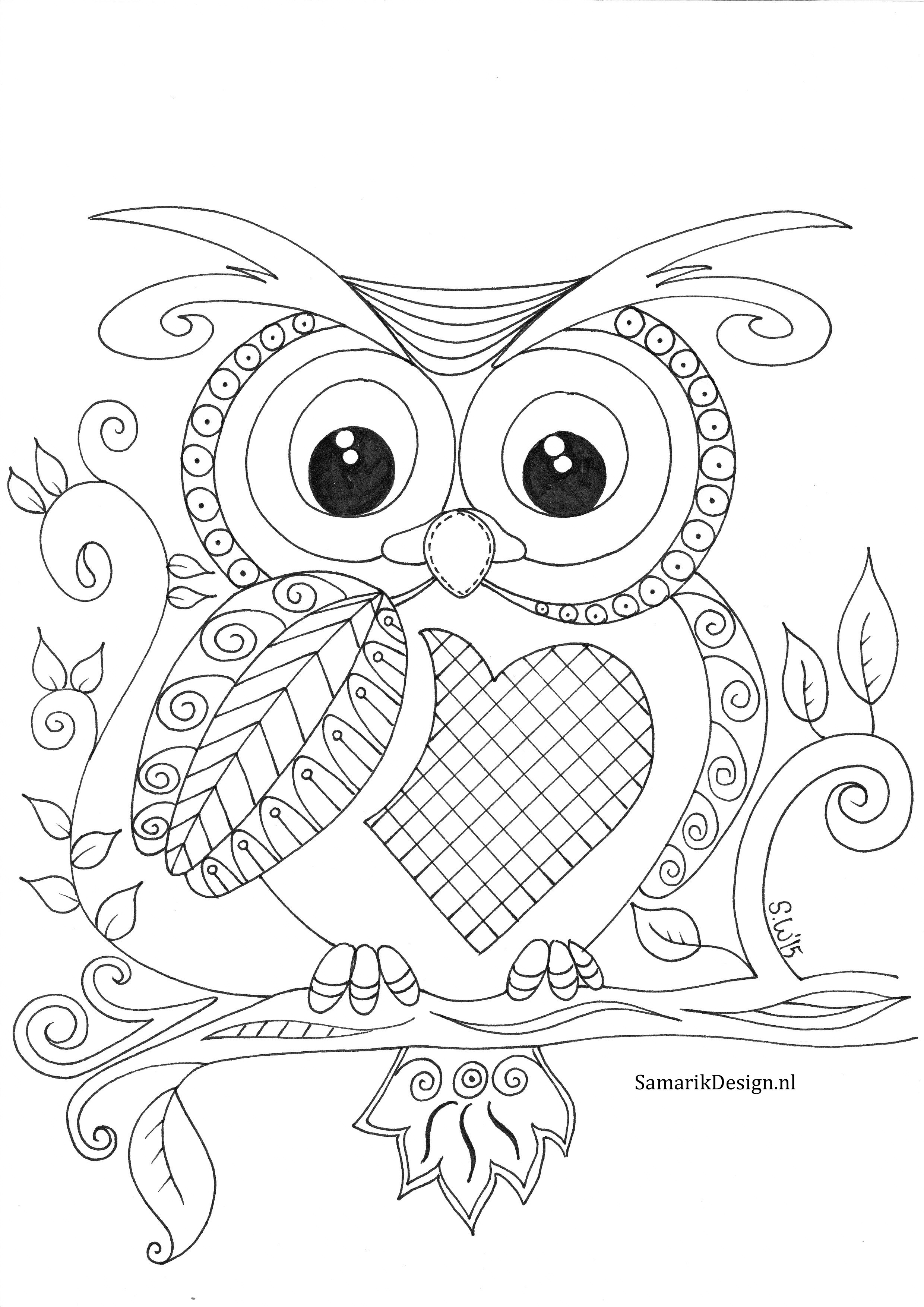 2480x3507 Love Owl Colouring Pictures Free Printable Col