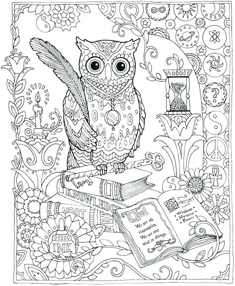 474x575 Owl Coloring Pages For Adults Or Owl Coloring Pages For Adults