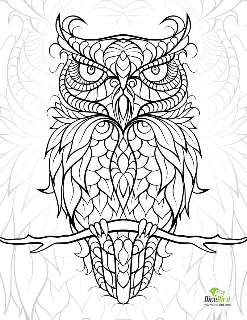 800x1035 Diceowl Free Printable Adult Coloring Pages Adult Coloring, Free