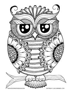 232x300 Owl Coloring Pages