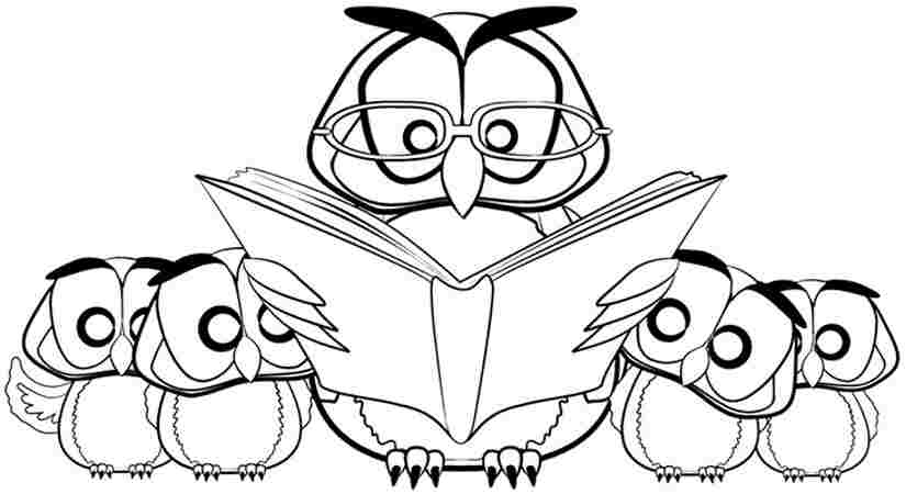 825x450 Cute Printable Owl Coloring Pages For Kids