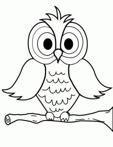 231x300 Owl Coloring Pages For Kids