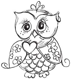 236x262 Best Cute Owl Coloring Pages Free Printable