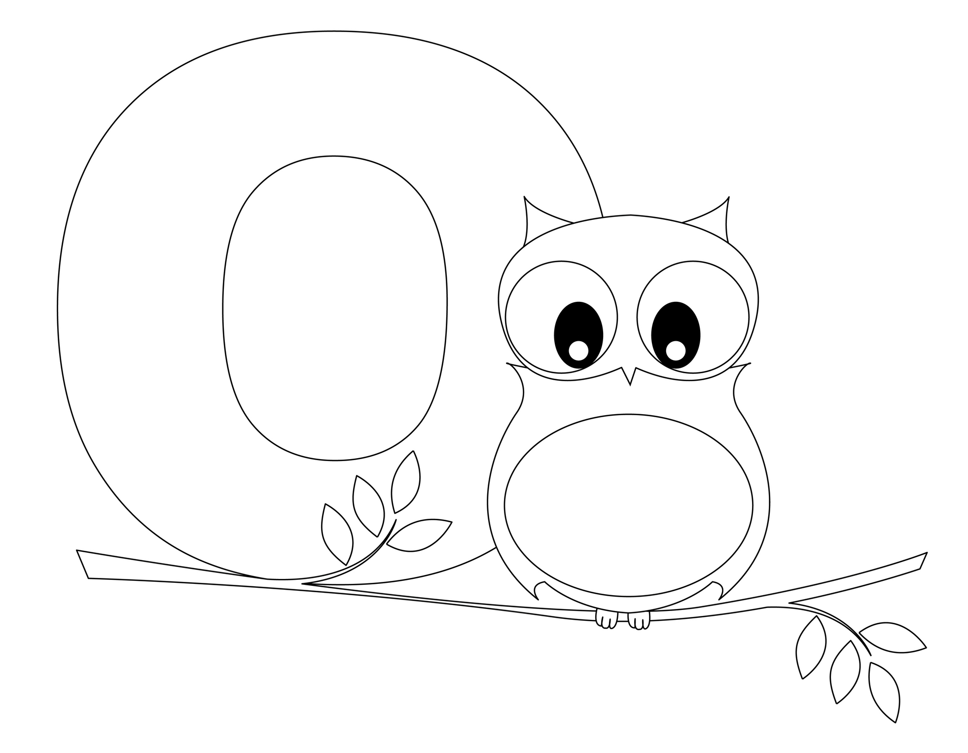 1963x1527 Letter O Coloring Pages Learning Free Printable Kids Sheets