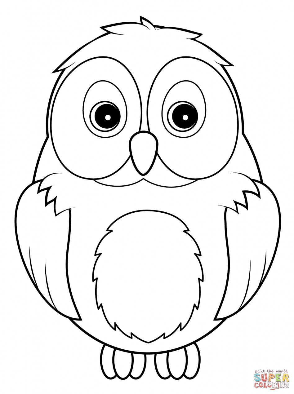 948x1271 Owl Coloring Pages For Kids Wagashiya
