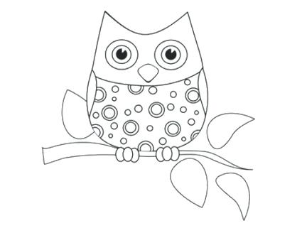 425x328 Owl Coloring Pages For Kids Printable Coloring Pages Owl