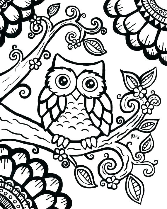 570x713 Printable Owl Coloring Pages Free Coloring Pages Coloring Book