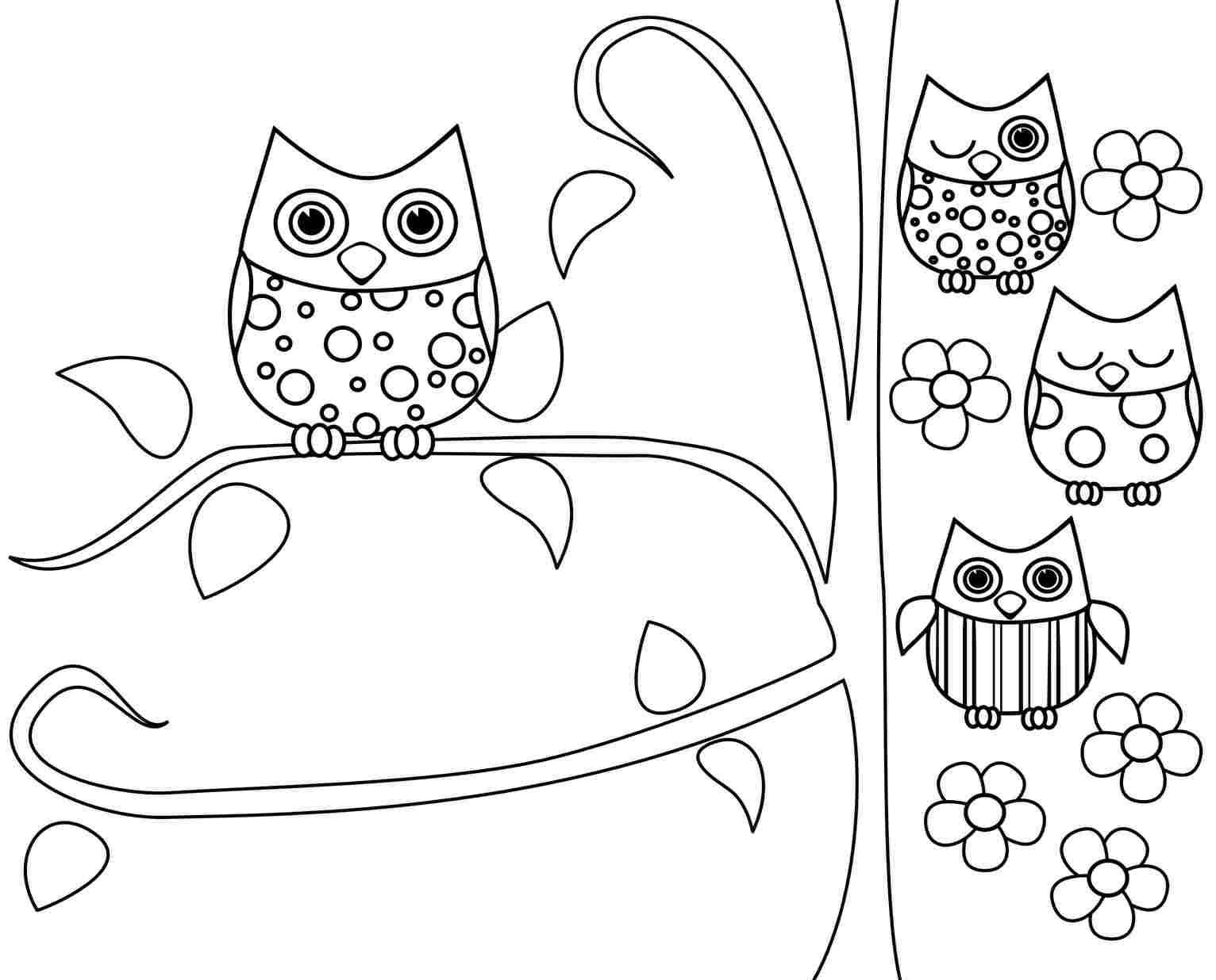 Owl Coloring Pages For Kids Printable At Getdrawings Com Free For