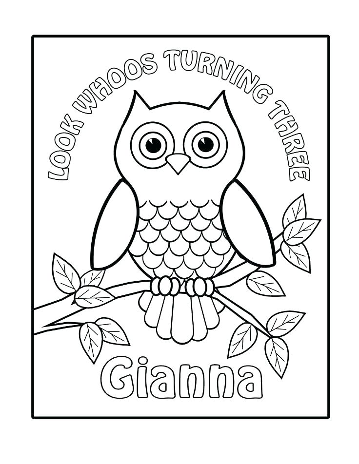 736x952 Cartoon Baby Owl Coloring Pages Kids Coloring Printable Owl