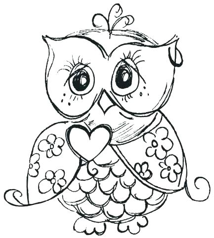 433x482 Owl Coloring Pages For Kids X Coloring Pages For Kids