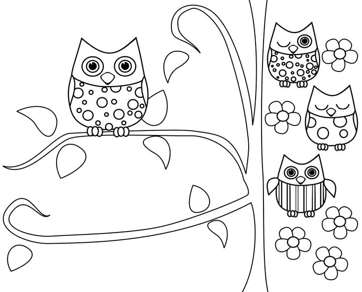 735x593 Owl Coloring Pages To Print Owl Coloring Pages Owl Coloring Pages