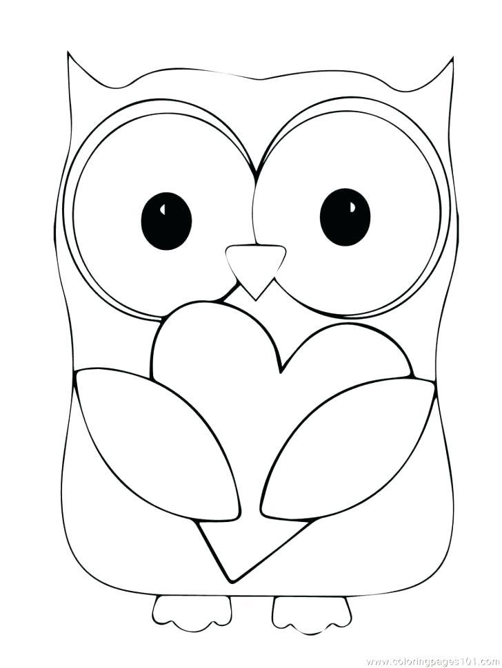 728x970 Owl Coloring Pages Preschool Deepart