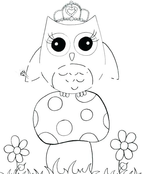489x600 Owl Coloring Pages