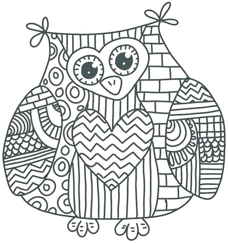Owl Mandala Coloring Pages At Getdrawings Com Free For Personal