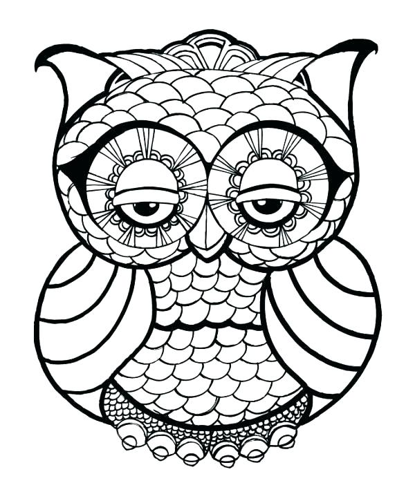 600x699 Owl For Coloring Coloring Pages Of Owls Printable Coloring Pages
