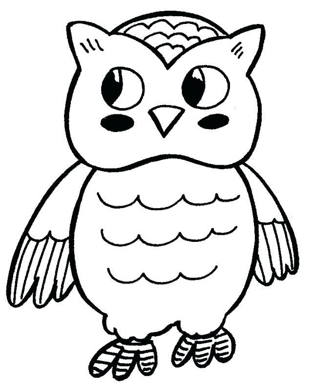 645x800 Owl Print Out Coloring Pages Free Cute Baby Download Clip Art
