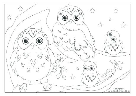 460x325 Owls Coloring Pages Owl Coloring Pages Halloween Owl Coloring