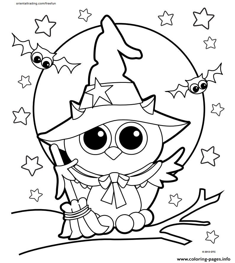794x889 Halloween Owl Coloring Pages Cute Halloween Coloring Pages