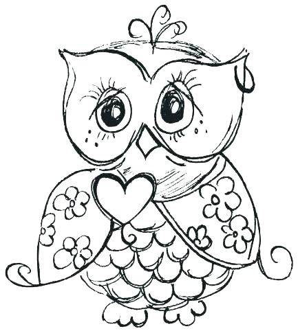 433x482 Owls Coloring Pages