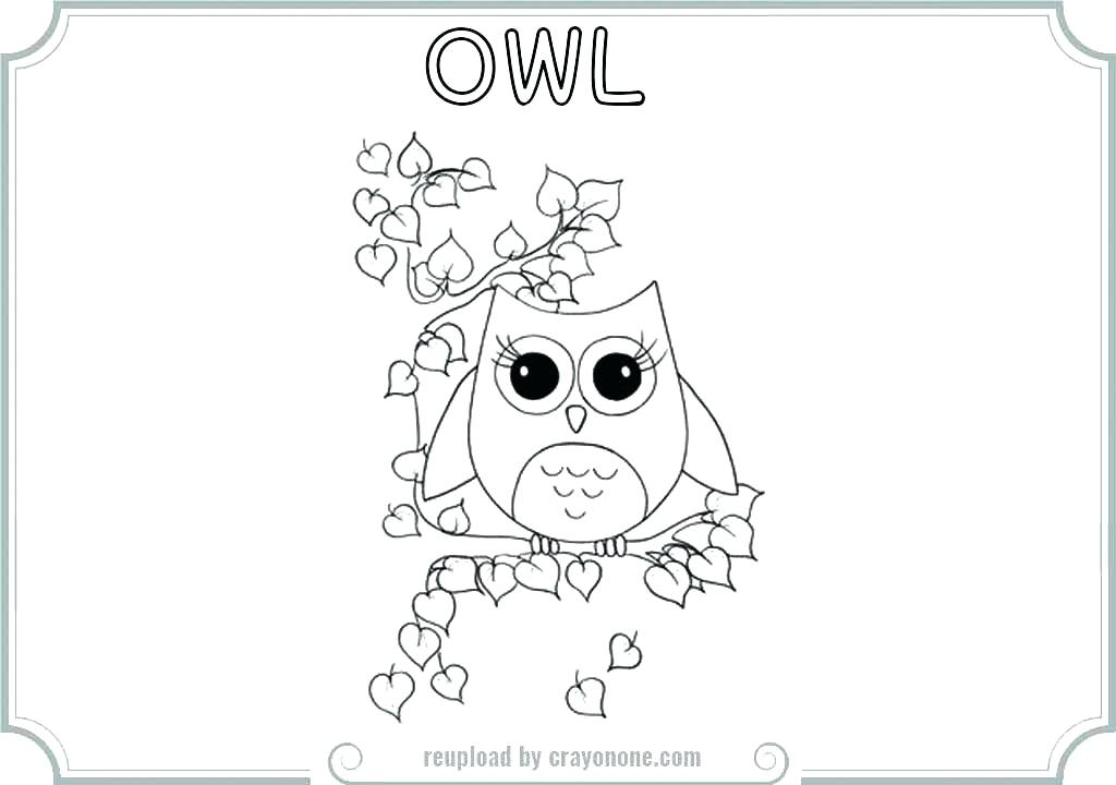 1024x720 Baby Owl Coloring Pages Cute Owl Coloring Pages Printable Color