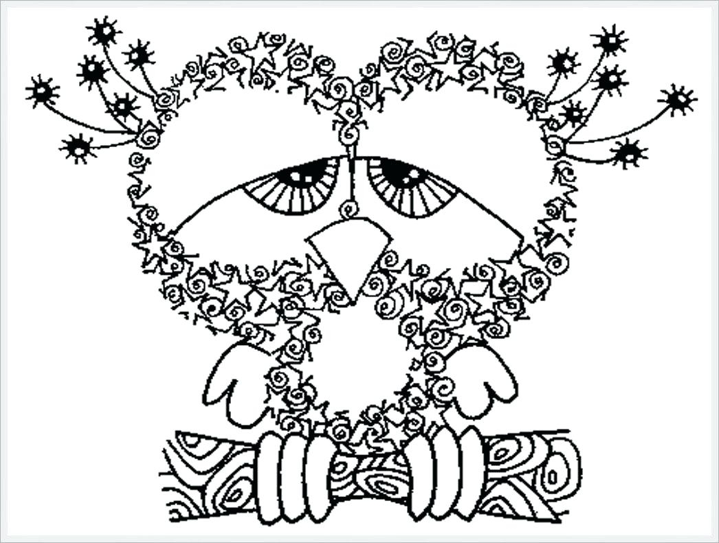 1046x790 Coloring Owl Printable Coloring Pages Owls Baby Owl Printable