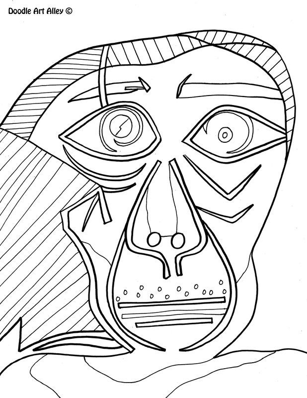 618x800 Famous Art Work Coloring Pages
