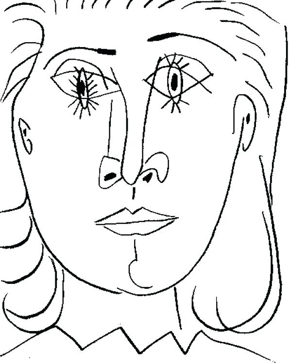 595x750 Pablo Picasso Coloring Pages Coloring Book In Addition